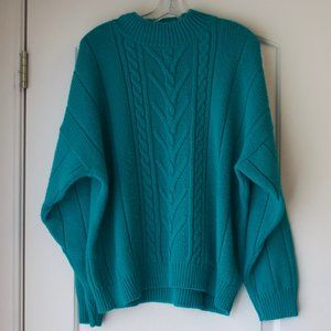 VTG 80s / 90s teal Balloon Sleeve Sweater